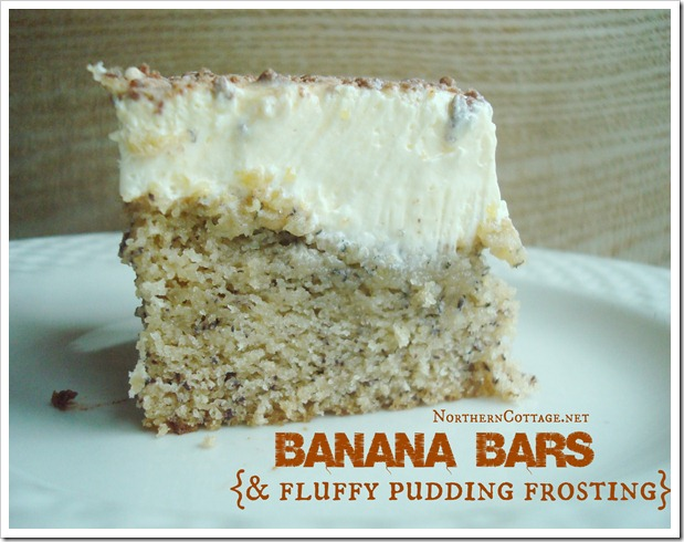 Frosted Banana Bars @NorthernCottage.net