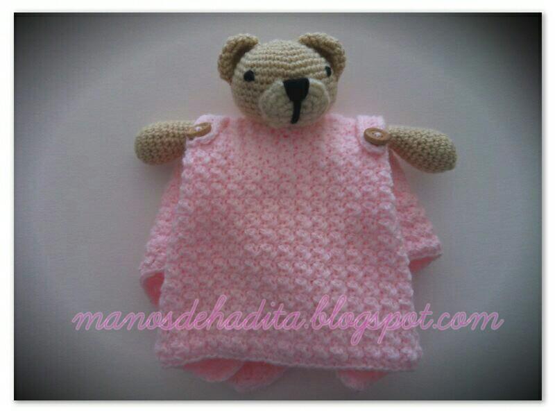 Manos de hadita: Mantita de apego a crochet