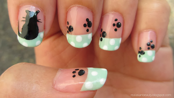 The Astounding Cute cat nail designs Photo