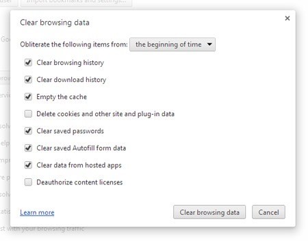 browsing history cache