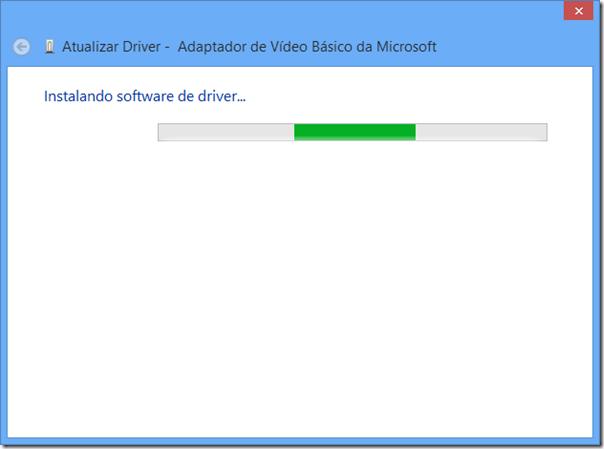 Instalando o driver de vídeo