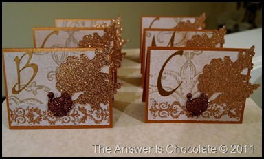 Monogrammed Place Cards