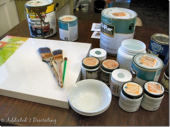 painting supplies before
