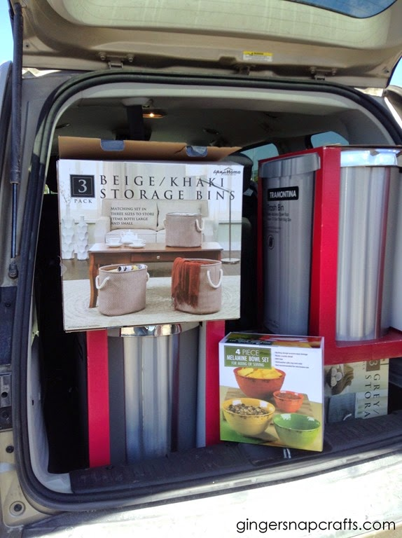 I filled the trunk at Sam's Club!