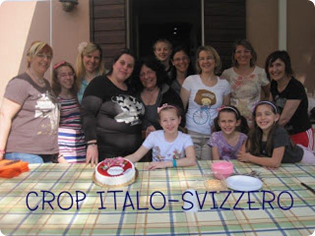crop italo-svizzero foto di gruppo