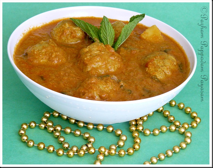 Chicken kofta curry