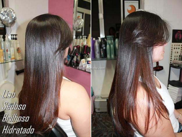 cabelo liso sedoso brilhoso e hidratado