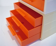 orange face drawers open