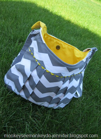 cross body pleated chevron bag