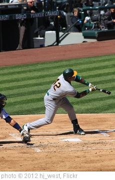 'Yoenis Cespedes strikes out' photo (c) 2012, hj_west - license: http://creativecommons.org/licenses/by-sa/2.0/
