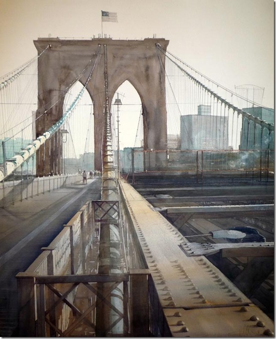 8 Brooklyn bridge 100 x 80 cm