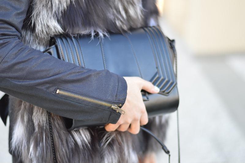Zara Bag, Zara, Borsa Zara, Zara black bag, Borsa nera Zara, Borsa nera, Pelliccia, gilet di pelliccia, fur, fur vest, furry