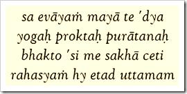 Bhagavad-gita, 4.3