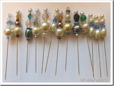 Decorated beaded pins