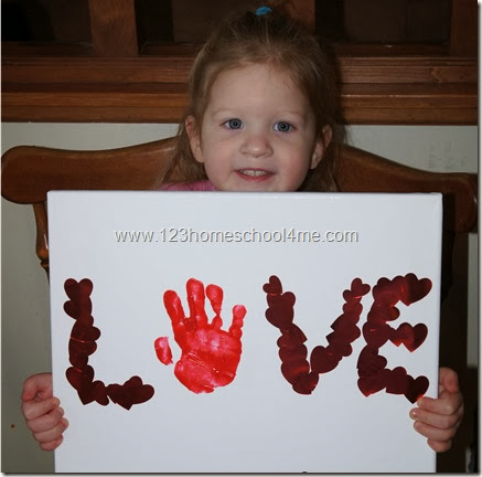 Sticker hand art valentines day craft for toddlers for Preschool crafts for february