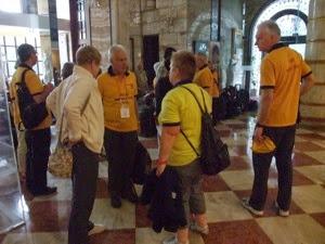 Rotarians Assembling