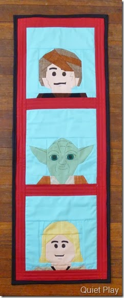 LEGO Star Wars paper pieced wallhanging