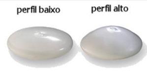 silicone perfil baixo e perfil alto