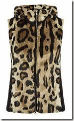 Armani Jeans Leopard Faux Fur Gilet