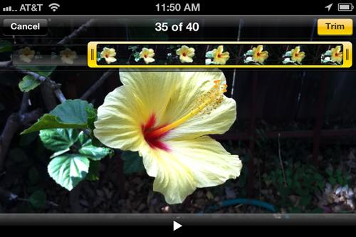 Iphone edit screen