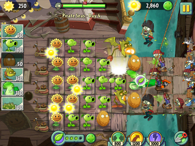 Plants v zombies 2 pirates