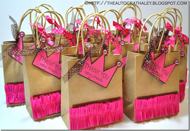 DIY Princess Favor Bags