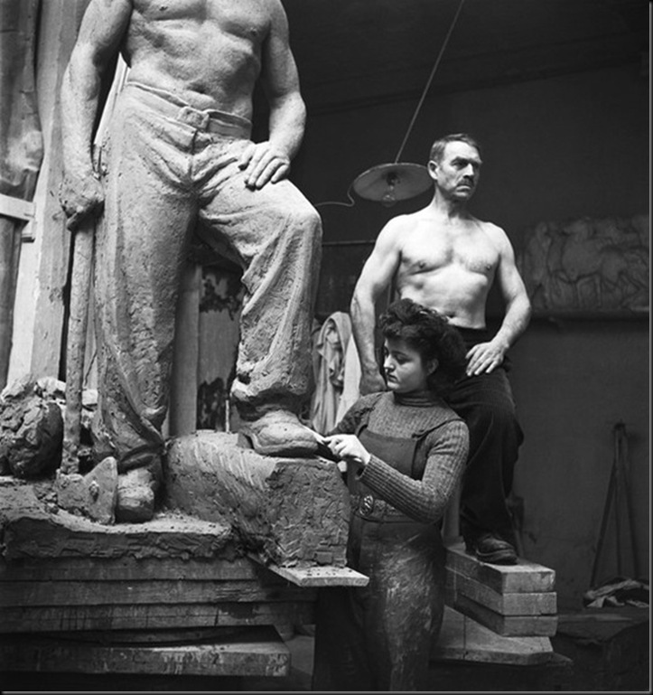 Emile Savitry. Atelier de sculpture des Beaux Arts de Paris, 1939