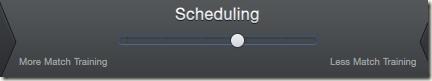 New scheduling