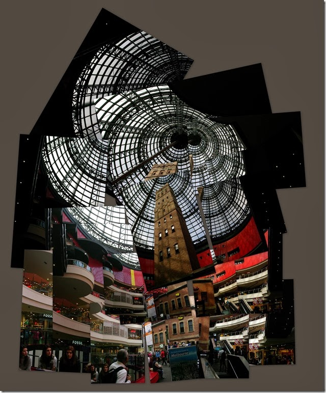 Cubist version of the Shot Tower, Melbourne Central