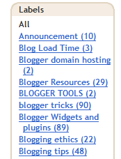 what are blog labels