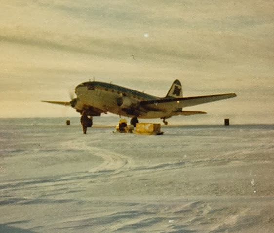 C-46 arriving at Colville_1973