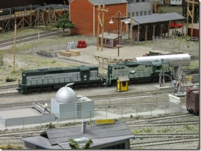 IMG_0399 GP7 #235 & SD9 #450 on the Mount Hood Model Engineers HO-Scale Layout in Portland, Oregon on March 8, 2008