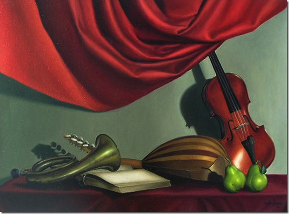 naturaleza muerta violin