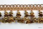 Taśma z koralami (dwonkami) do dekoracji mebli, zasłon, narzut, poduszek, abażurów.