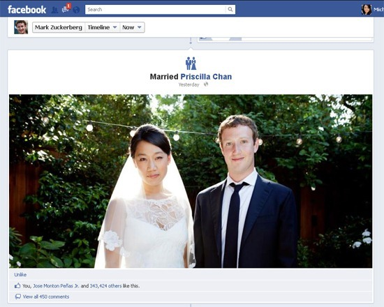 Mark Zuckerberg and long-time girlfriend Priscilla Chan are now married