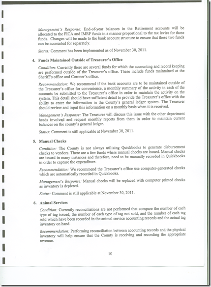 Management Letter 2011 CPA Audit 10