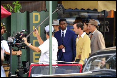Chadwick Boseman as Jackie Robinson on 2nd st jun 15