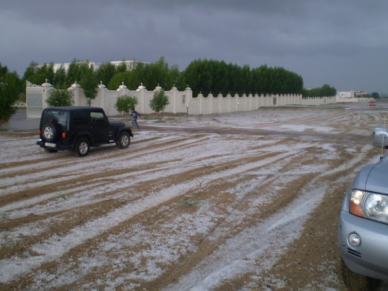 Pics of the Hail Storm in Sarjah