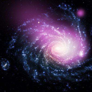 imagem composta no óptico e raios X da NGC 1232