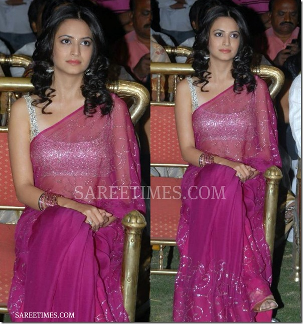 Kriti_Kharbanda_Pink_Saree
