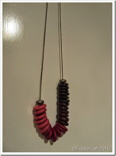 sculpey bead necklace