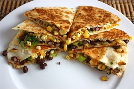 Corn and Black Bean Quesadillas 500