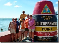 Gail, Rick, Dan, Tricia, Gin and Syl in Key West