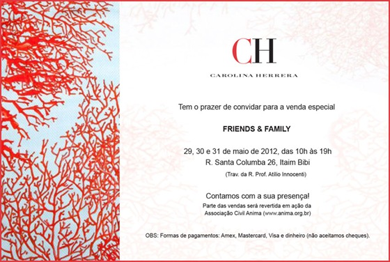 CAROLINA HERRERA BAZAR SAO PAULO FRIENDS & FAMILY
