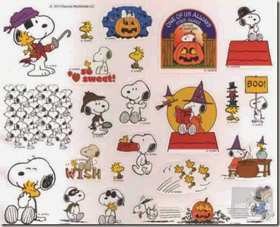 Snoopy in Season Mook 2013 02 Free Stickers