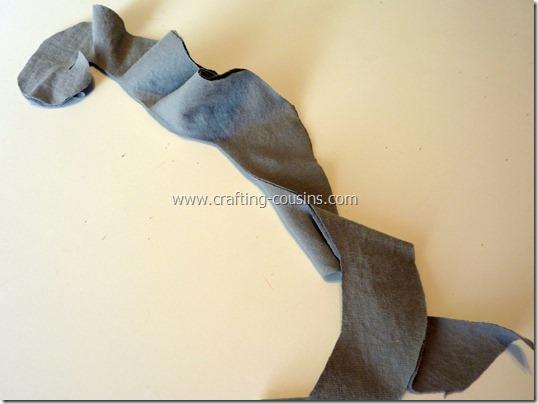 no sew ruffle scarf 5