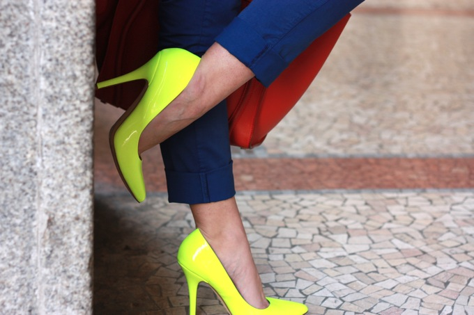 aldo fluo yellow neon shoes