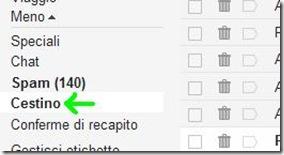 Cestino Gmail