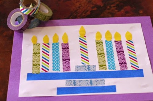 Washi Tape Menorah