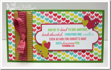 card by Diane Noble Word Art Wednesday